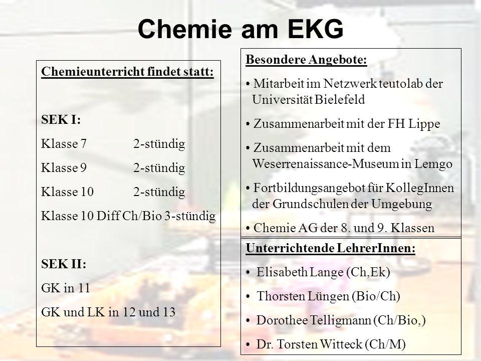Chemie am EKG Besondere Angebote: