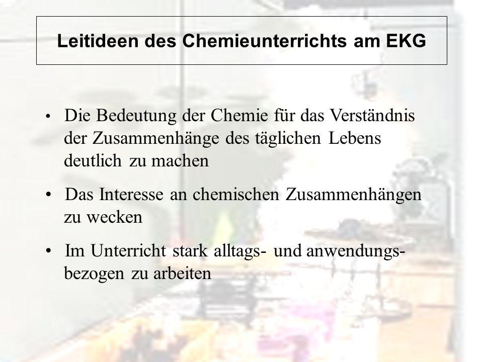 Leitideen des Chemieunterrichts am EKG