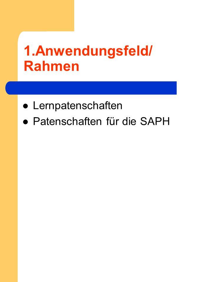 1.Anwendungsfeld/ Rahmen