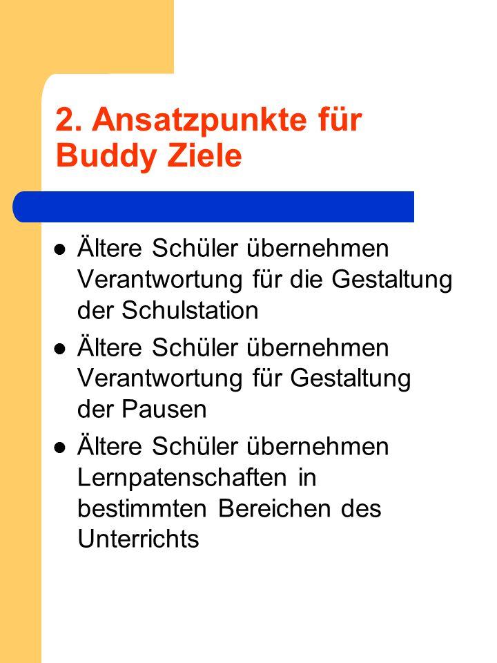 2. Ansatzpunkte für Buddy Ziele
