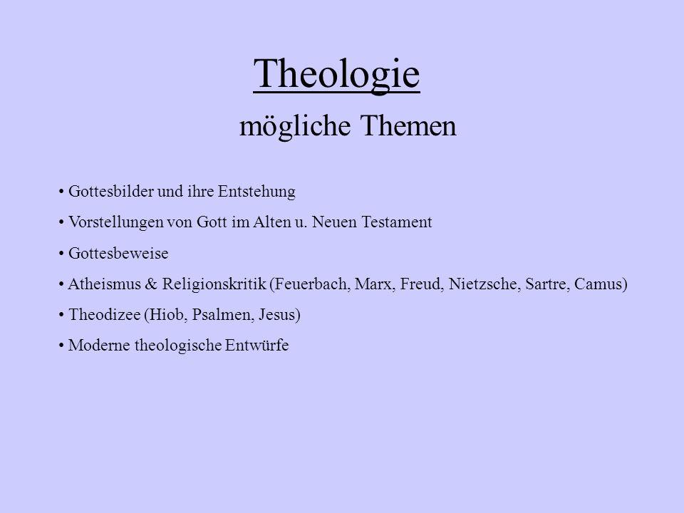 Theologie mögliche Themen Gottesbilder und ihre Entstehung