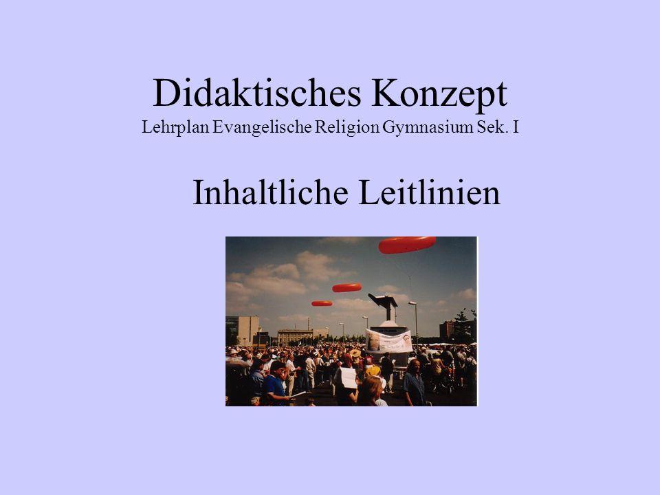 Didaktisches Konzept Lehrplan Evangelische Religion Gymnasium Sek. I