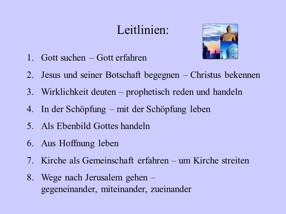 Leitlinien: Gott suchen – Gott erfahren