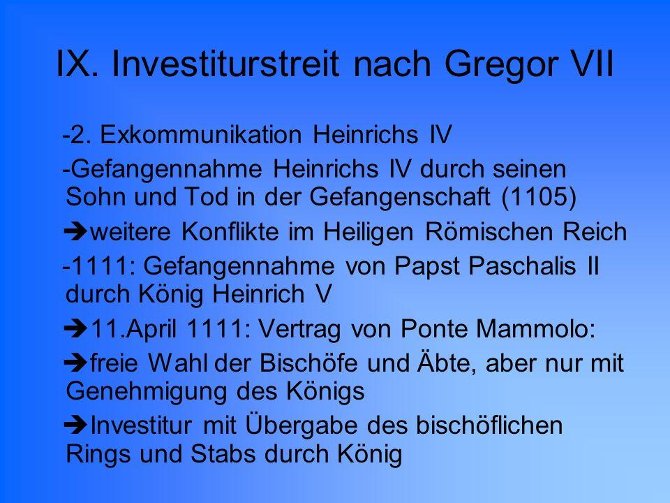 IX. Investiturstreit nach Gregor VII