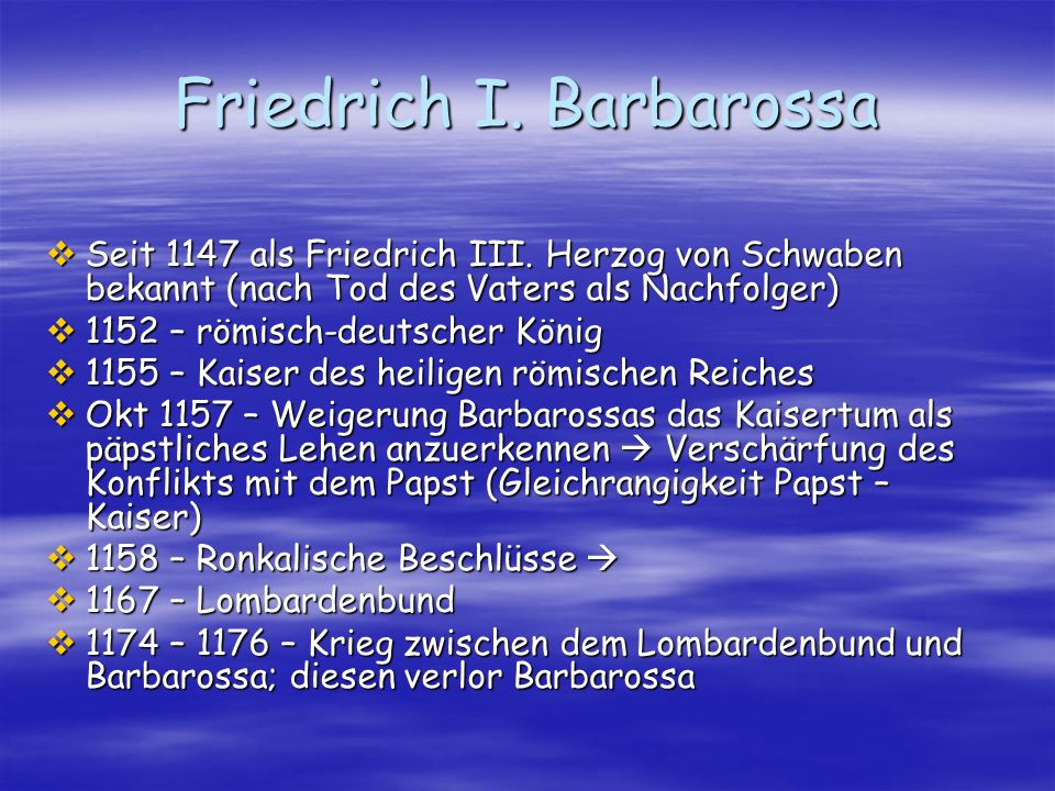 Friedrich I. Barbarossa