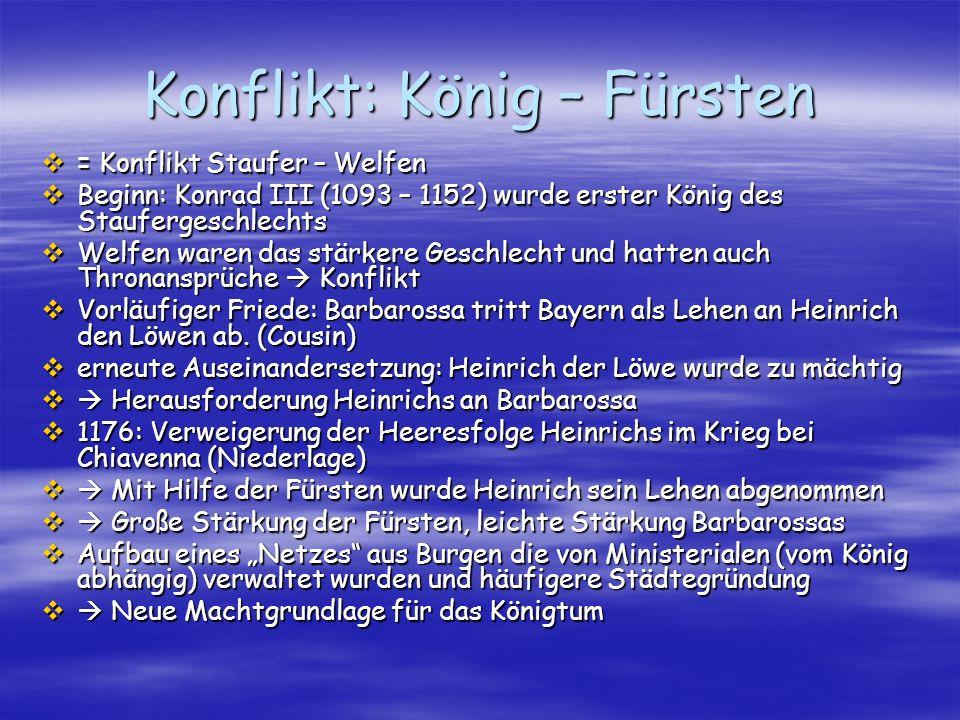 Konflikt: König – Fürsten