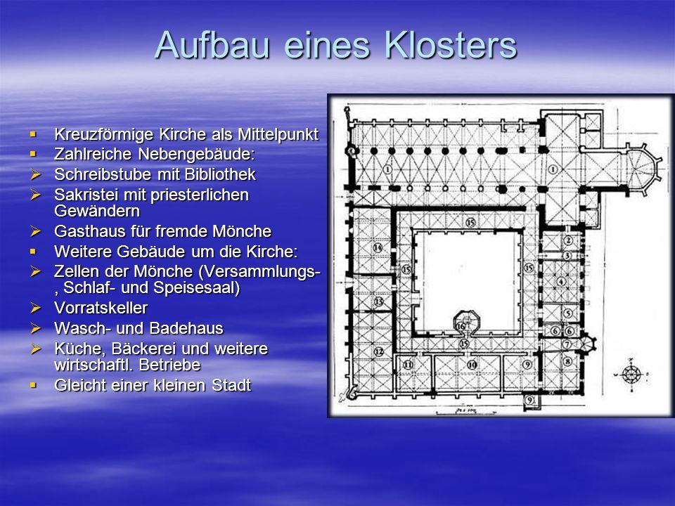 Aufbau eines Klosters Kreuzförmige Kirche als Mittelpunkt
