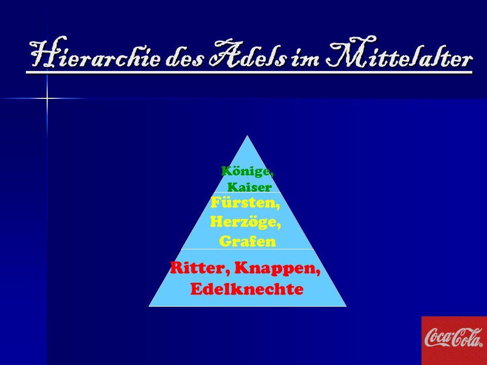 Hierarchie des Adels im Mittelalter