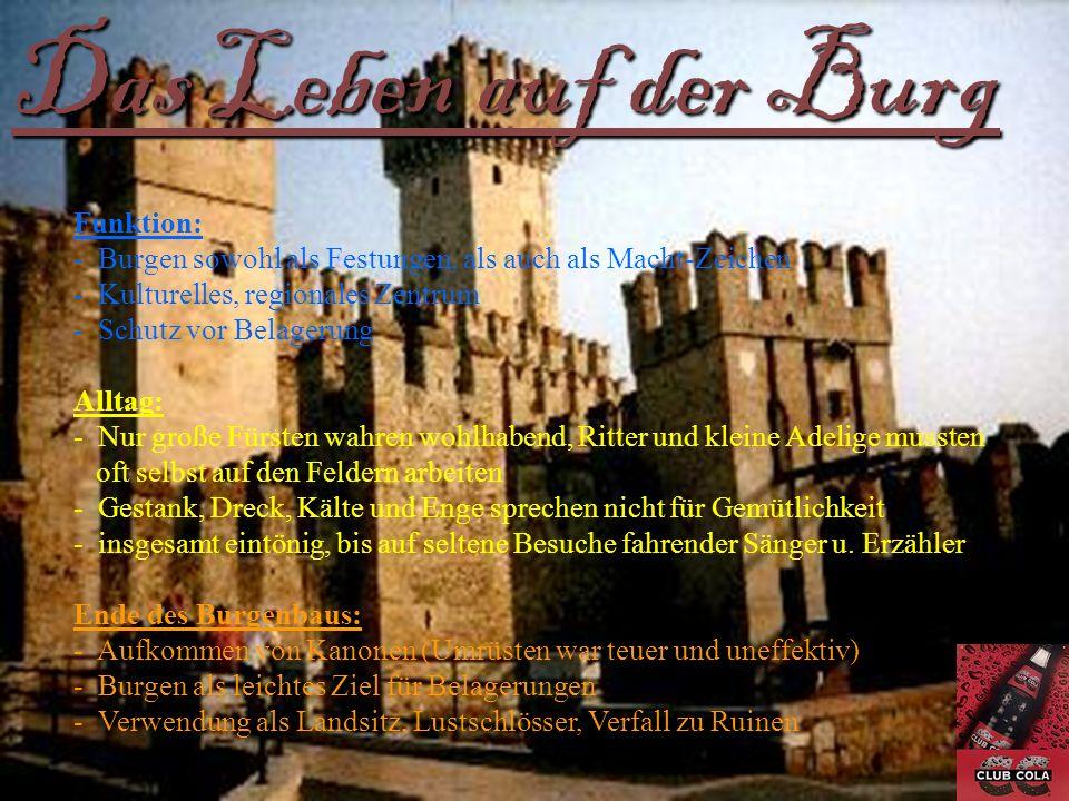 Das Leben auf der Burg Funktion: