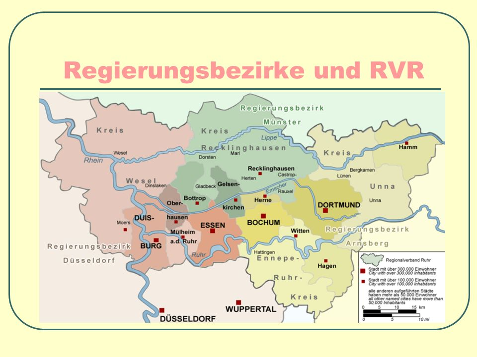 Regierungsbezirke und RVR