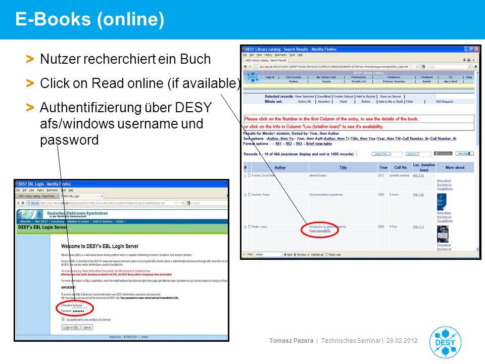 E-Books (online) Nutzer recherchiert ein Buch