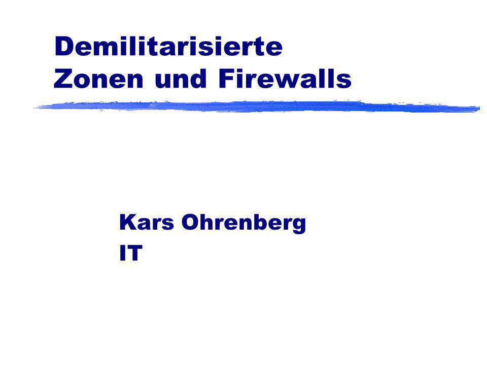 Demilitarisierte Zonen und Firewalls
