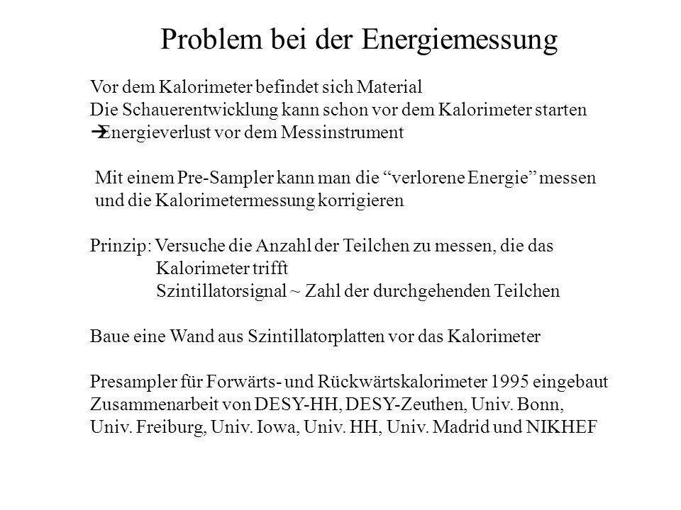 Problem bei der Energiemessung