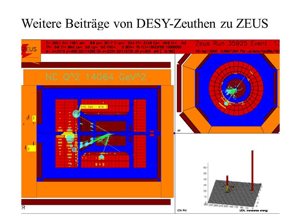 Weitere Beiträge von DESY-Zeuthen zu ZEUS