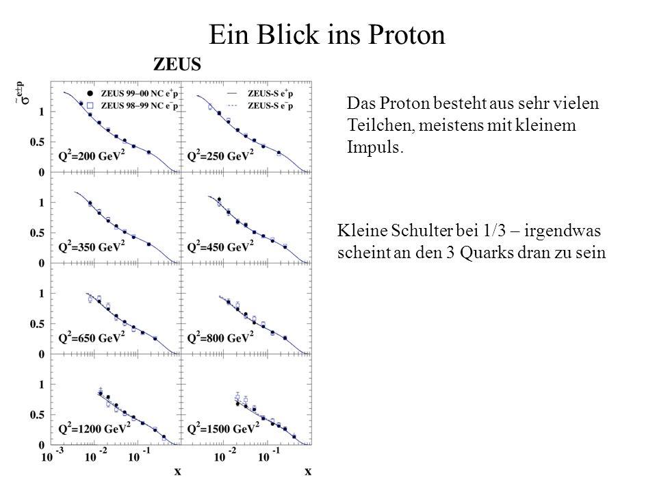 Ein Blick ins Proton Das Proton besteht aus sehr vielen