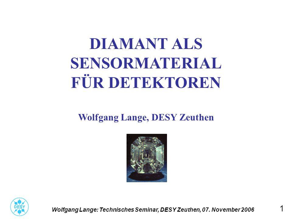 Wolfgang Lange, DESY Zeuthen