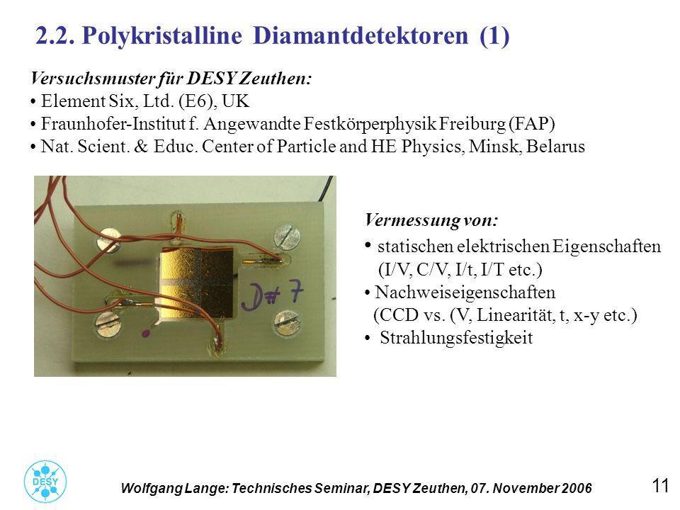 2.2. Polykristalline Diamantdetektoren (1)