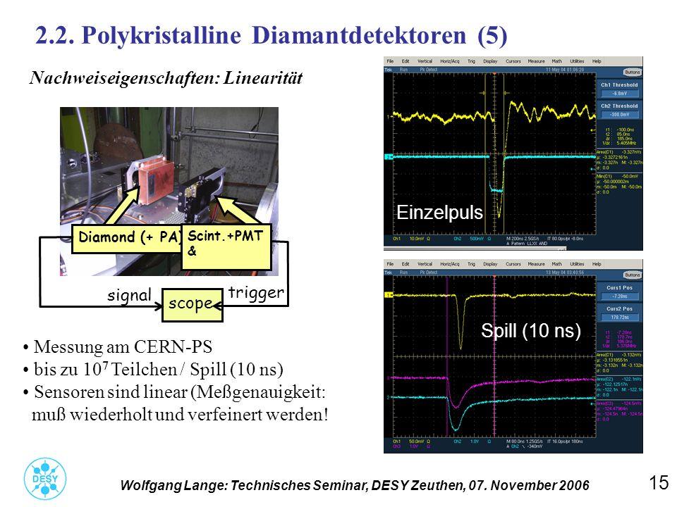 2.2. Polykristalline Diamantdetektoren (5)