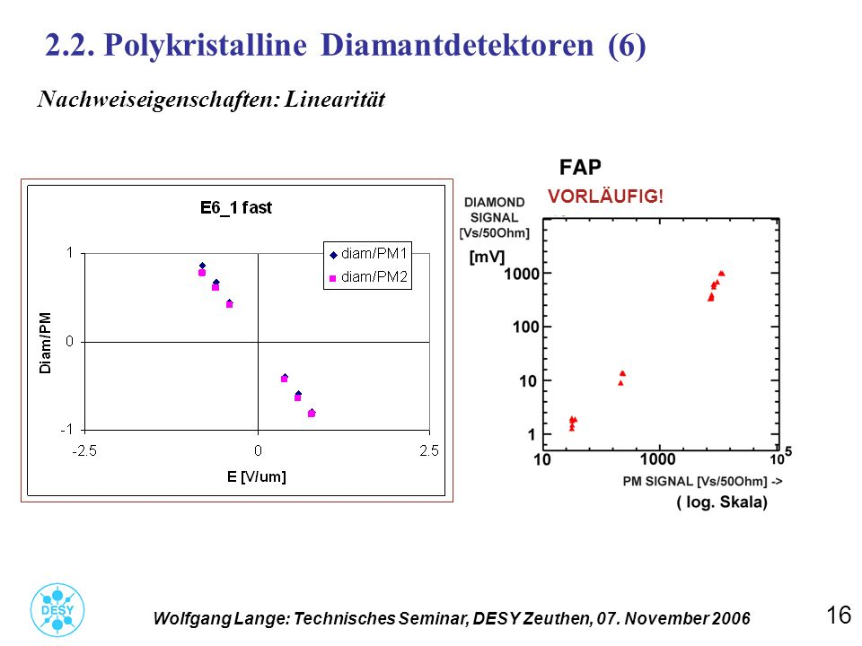 2.2. Polykristalline Diamantdetektoren (6)