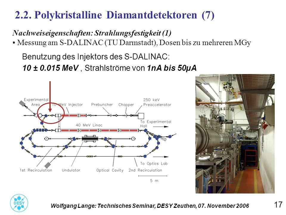 2.2. Polykristalline Diamantdetektoren (7)
