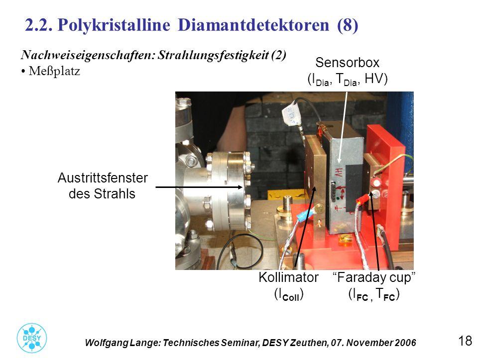 2.2. Polykristalline Diamantdetektoren (8)