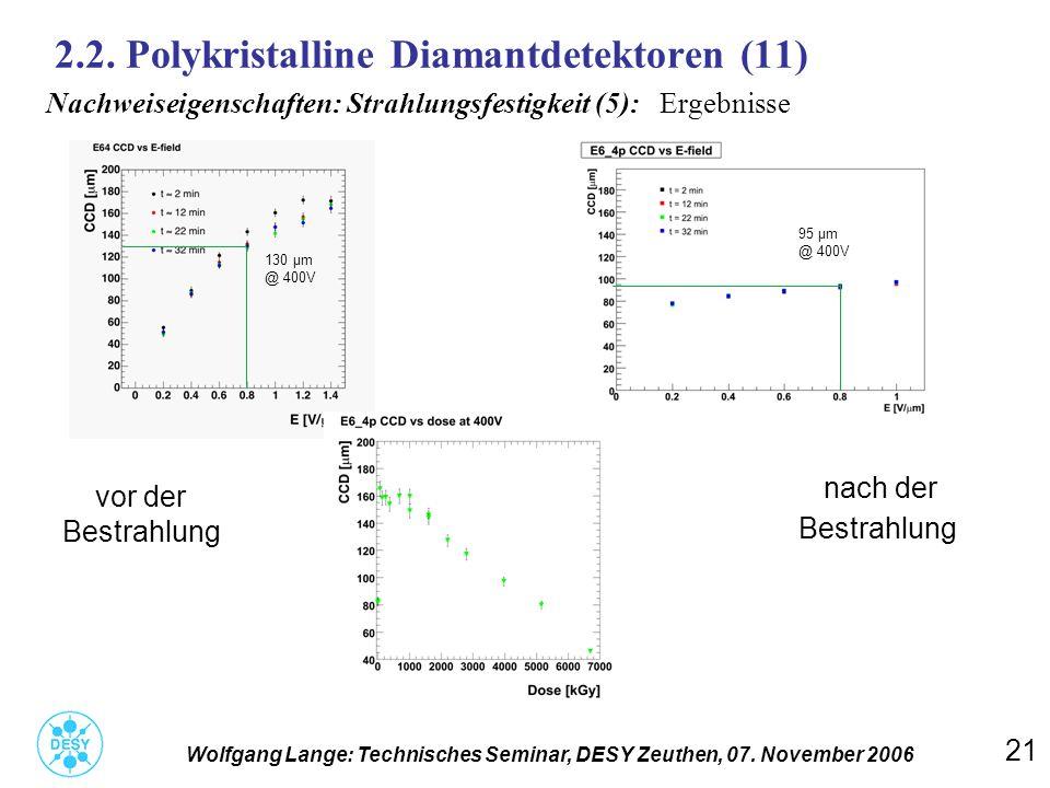 2.2. Polykristalline Diamantdetektoren (11)