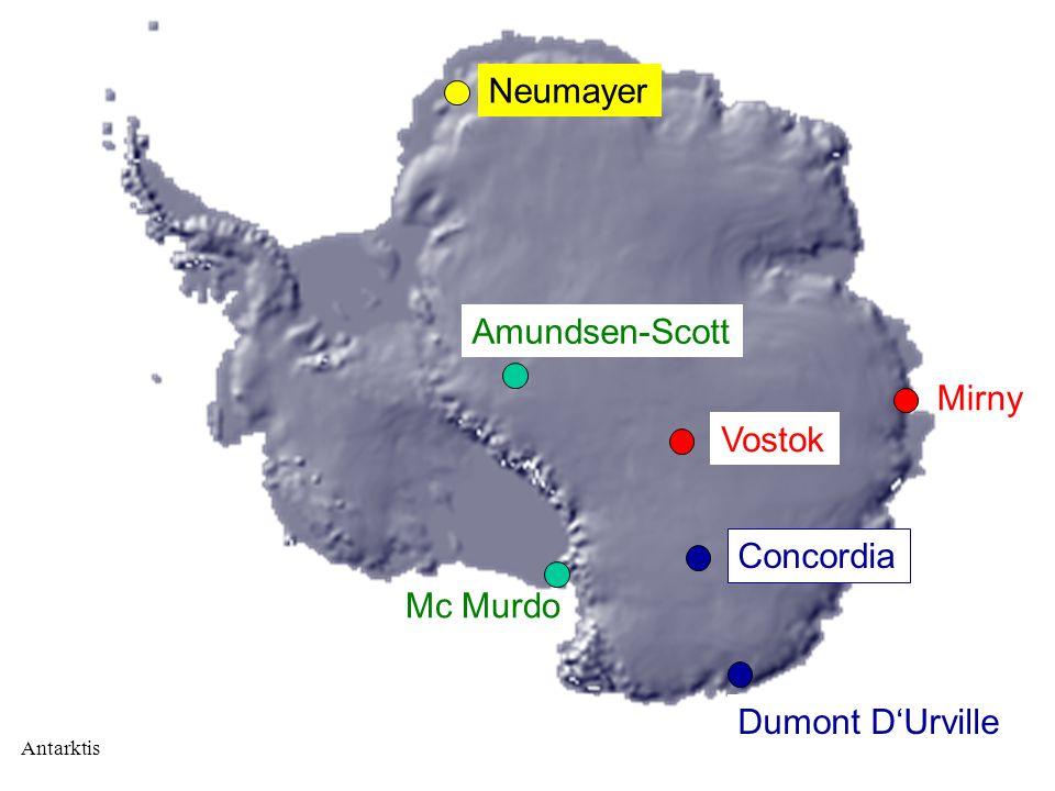 Neumayer Amundsen-Scott Mirny Vostok Concordia Mc Murdo