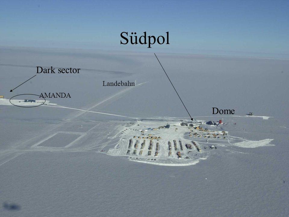 Südpol Dark sector Landebahn AMANDA Dome