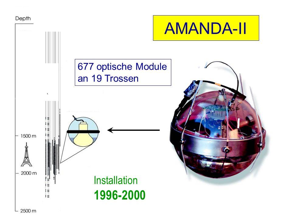 AMANDA-II 677 optische Module an 19 Trossen Installation 1996-2000