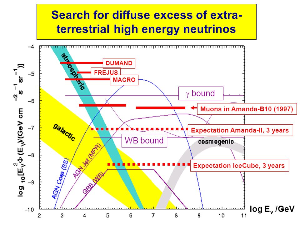 Search for diffuse excess of extra- terrestrial high energy neutrinos