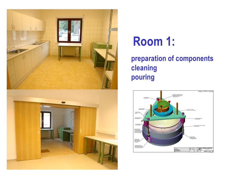 Room 1: preparation of components cleaning pouring