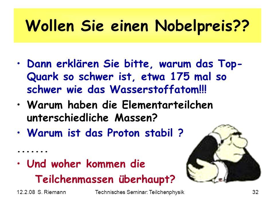 Wollen Sie einen Nobelpreis