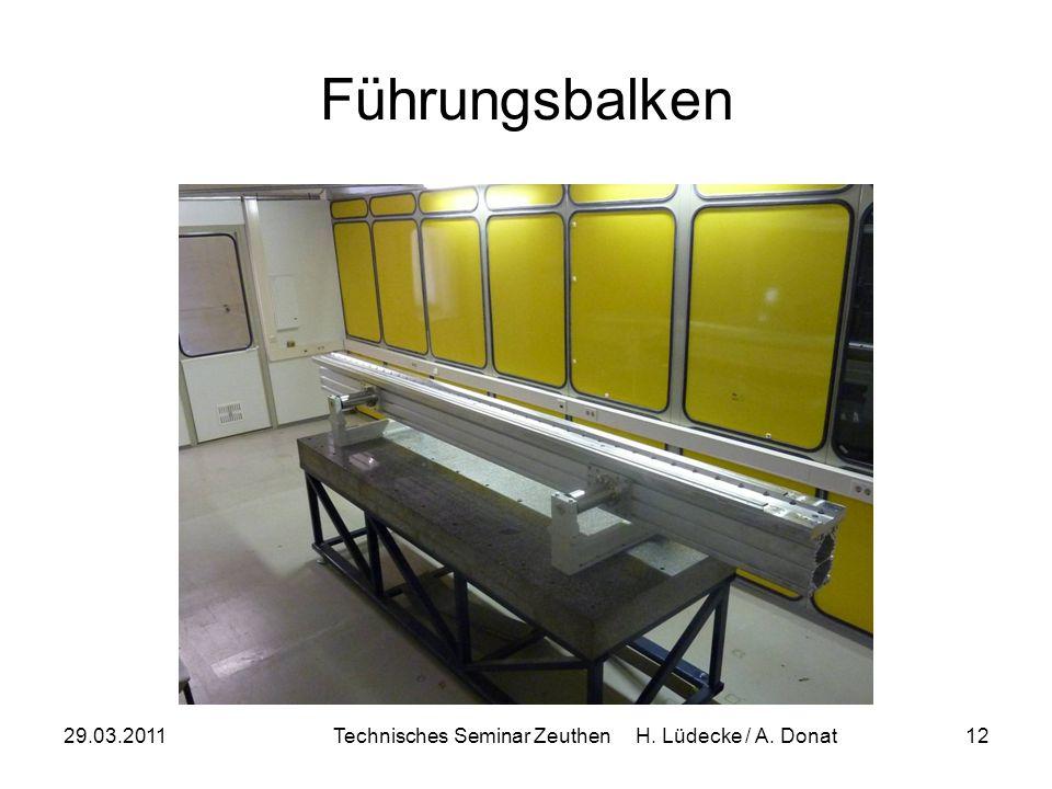 Technisches Seminar Zeuthen H. Lüdecke / A. Donat