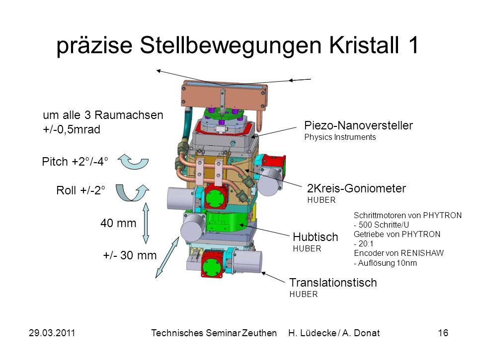 präzise Stellbewegungen Kristall 1