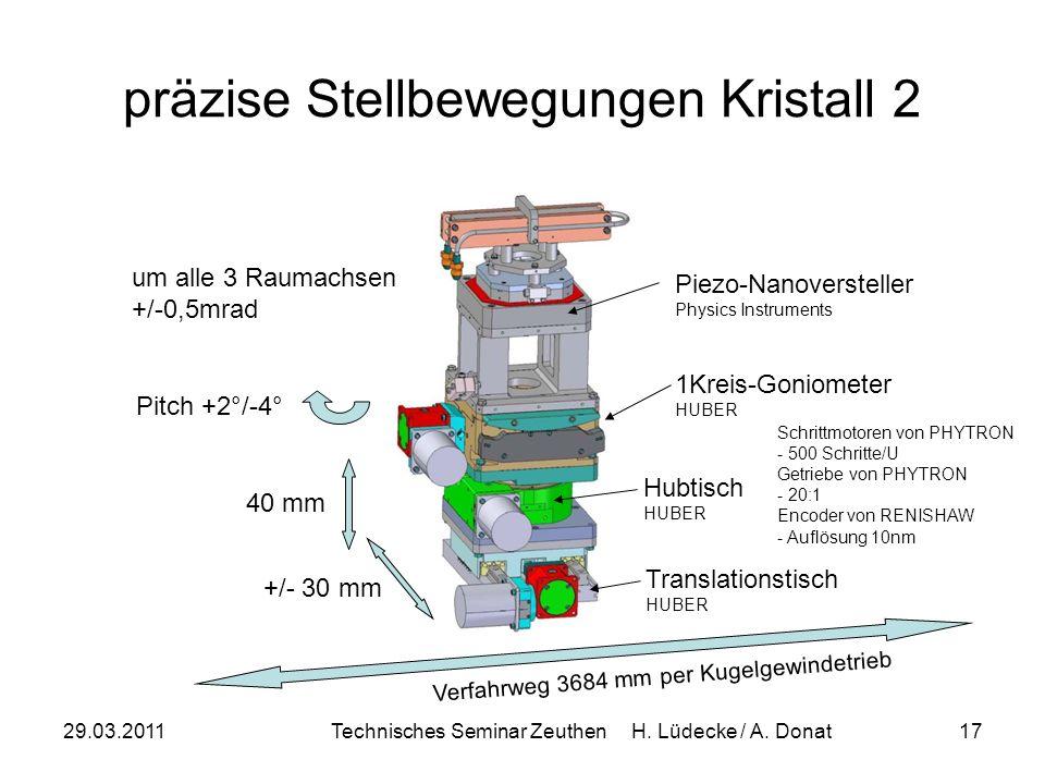 präzise Stellbewegungen Kristall 2
