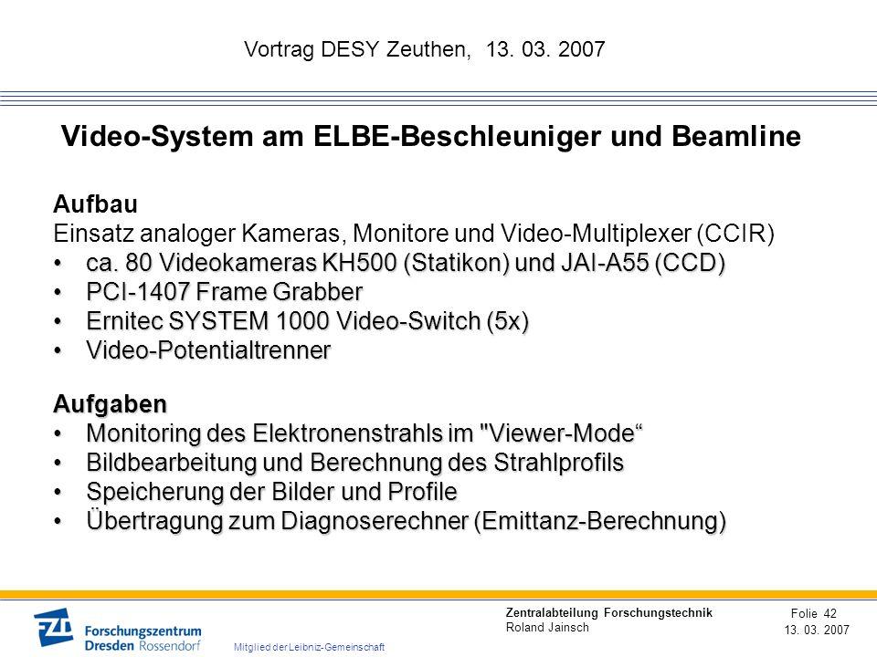 Video-System am ELBE-Beschleuniger und Beamline
