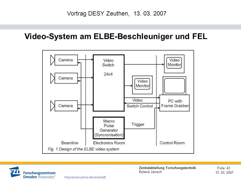 Video-System am ELBE-Beschleuniger und FEL
