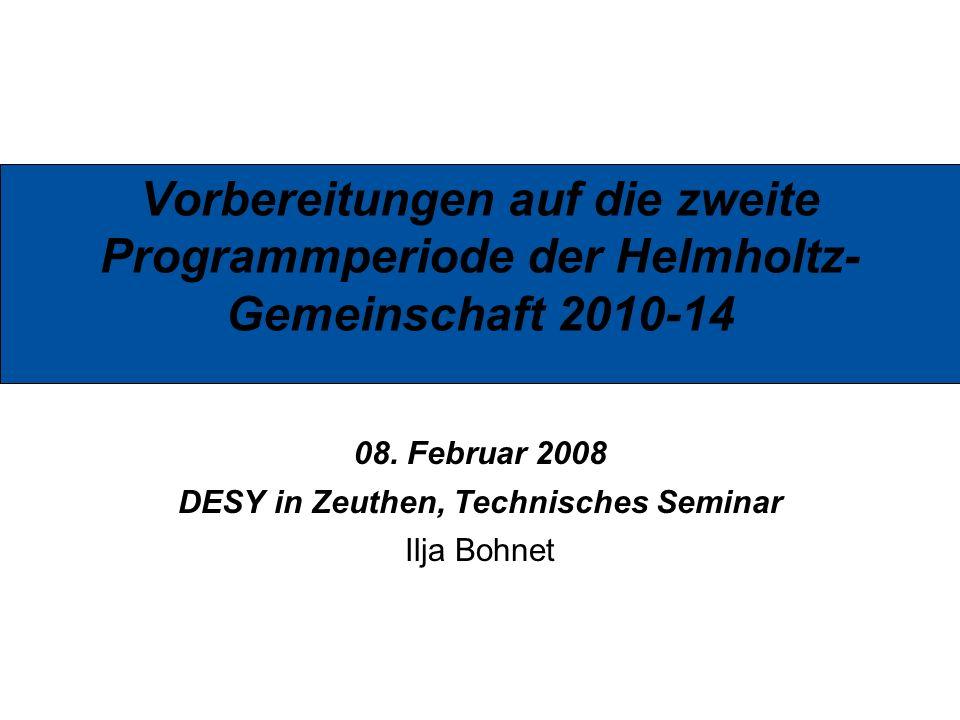 08. Februar 2008 DESY in Zeuthen, Technisches Seminar Ilja Bohnet