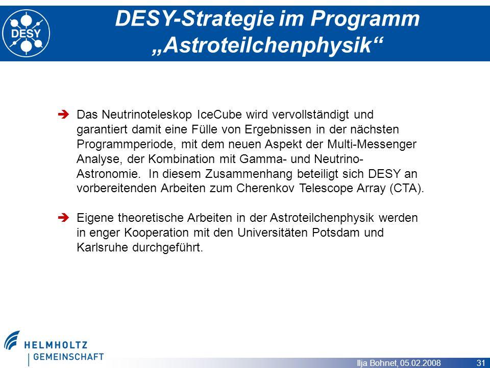 """DESY-Strategie im Programm """"Astroteilchenphysik"""