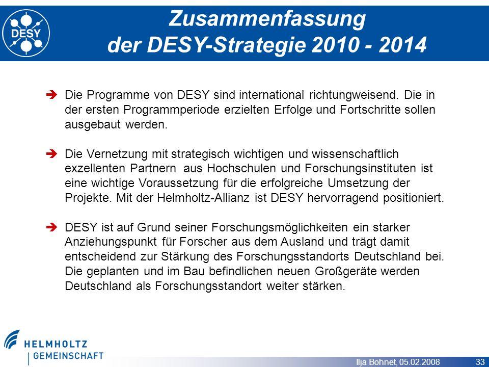 Zusammenfassung der DESY-Strategie 2010 - 2014