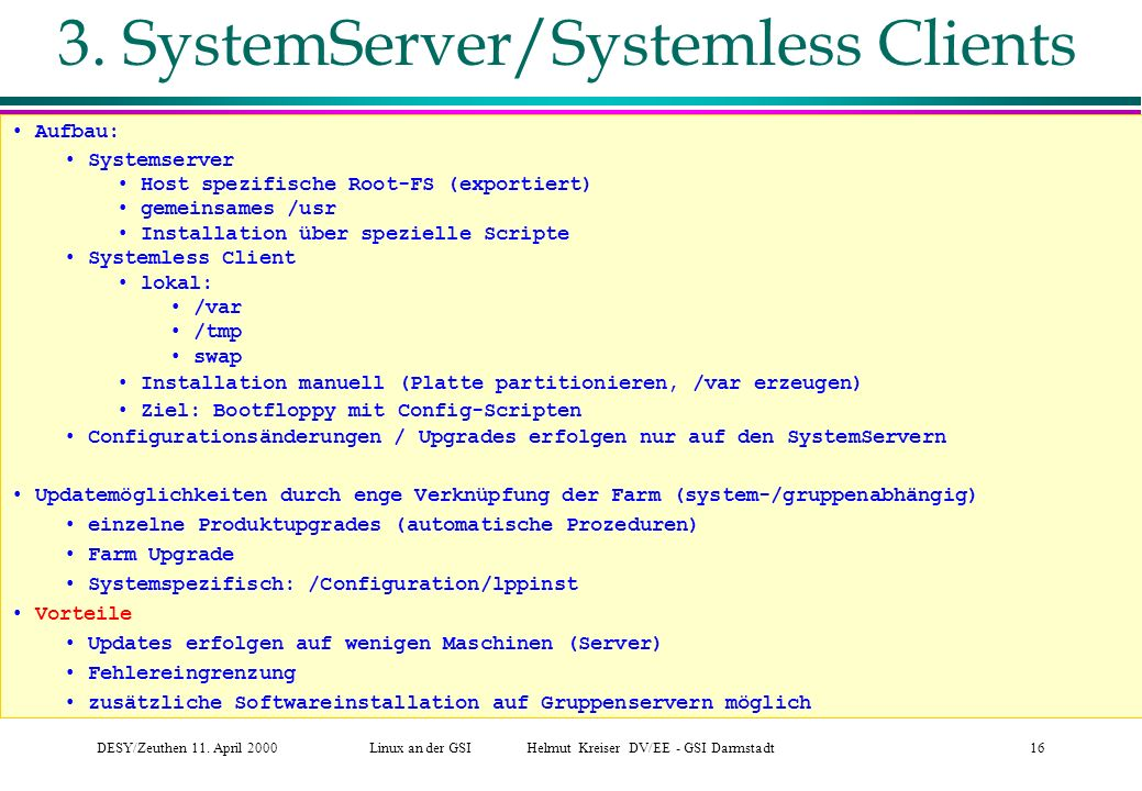 3. SystemServer/Systemless Clients