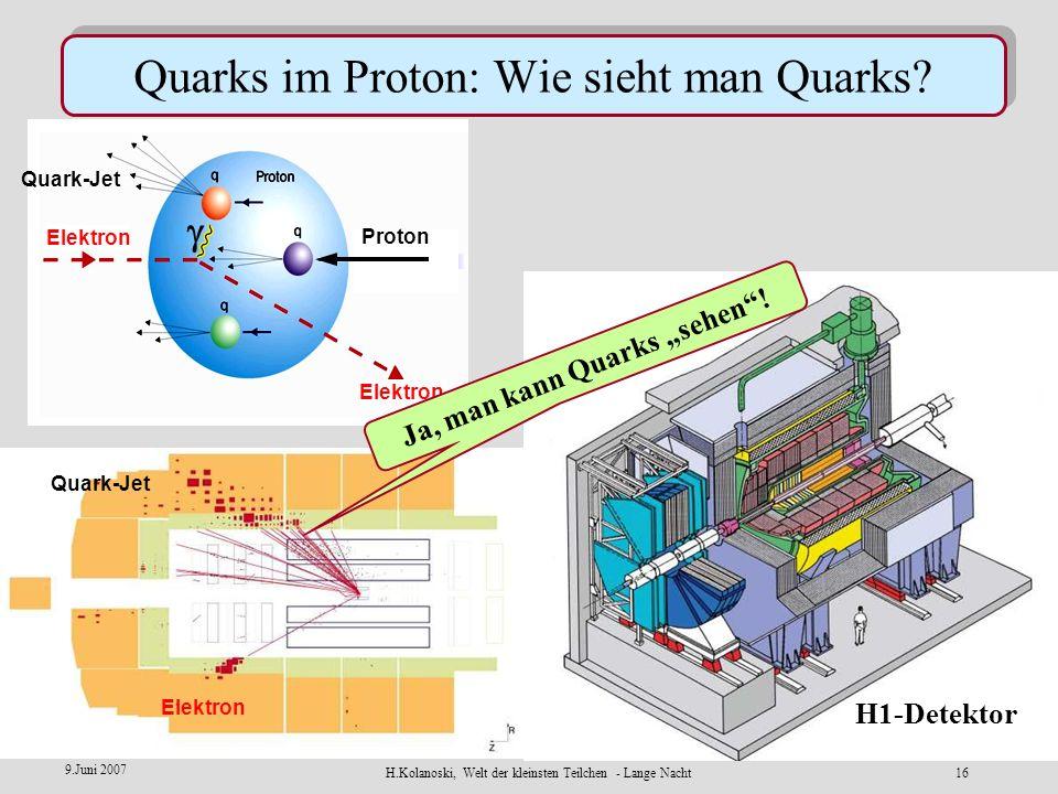 Quarks im Proton: Wie sieht man Quarks