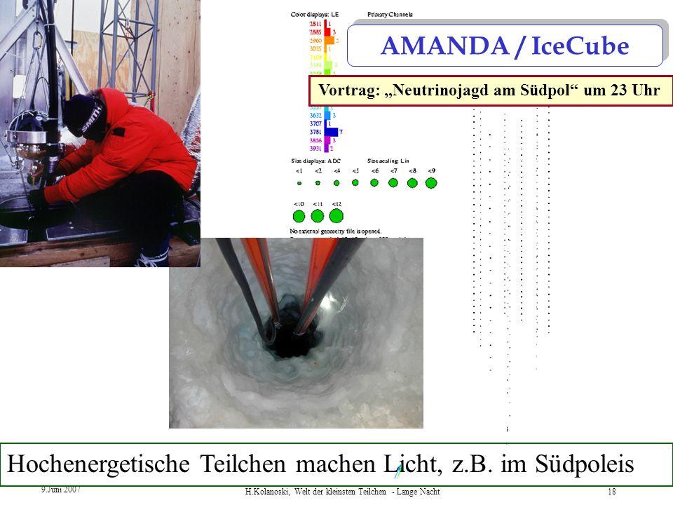 """Vortrag: """"Neutrinojagd am Südpol um 23 Uhr"""