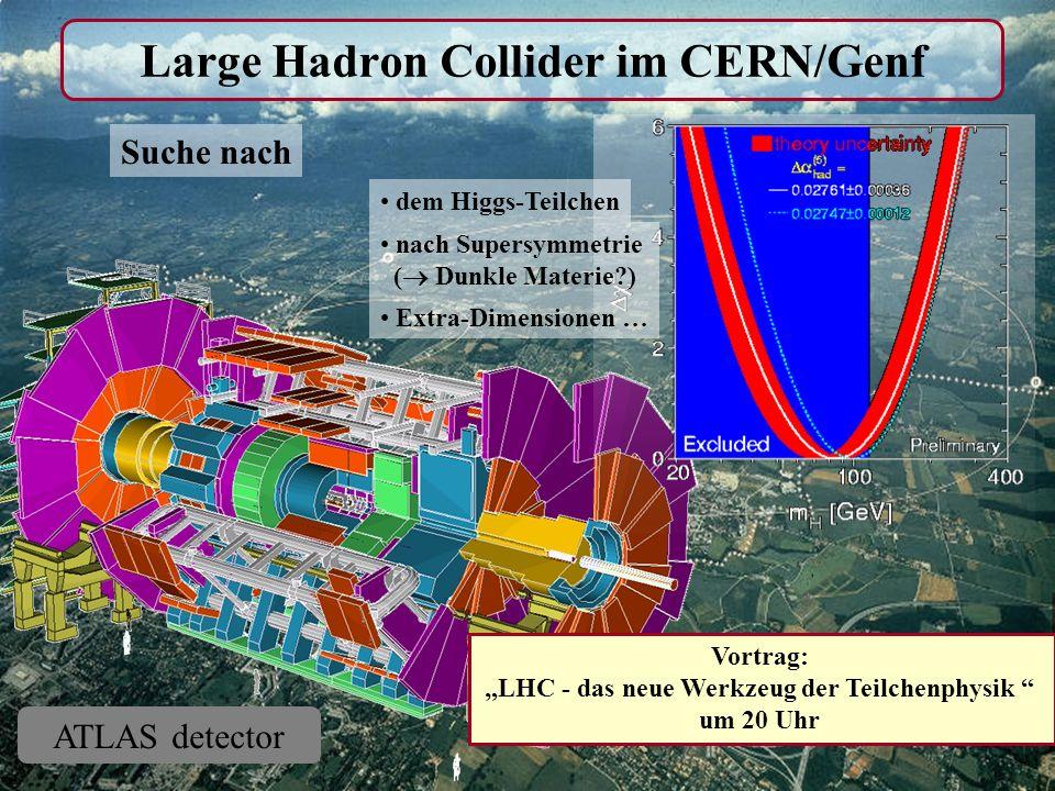 Large Hadron Collider im CERN/Genf