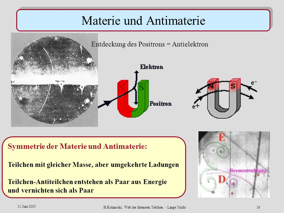 Materie und Antimaterie