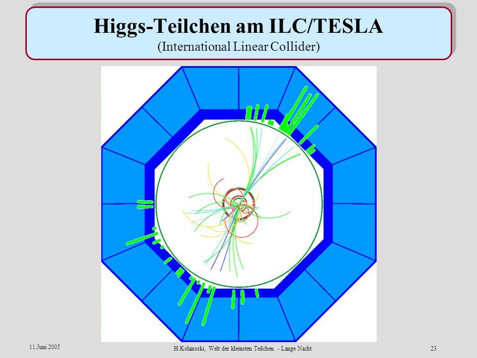 Higgs-Teilchen am ILC/TESLA (International Linear Collider)