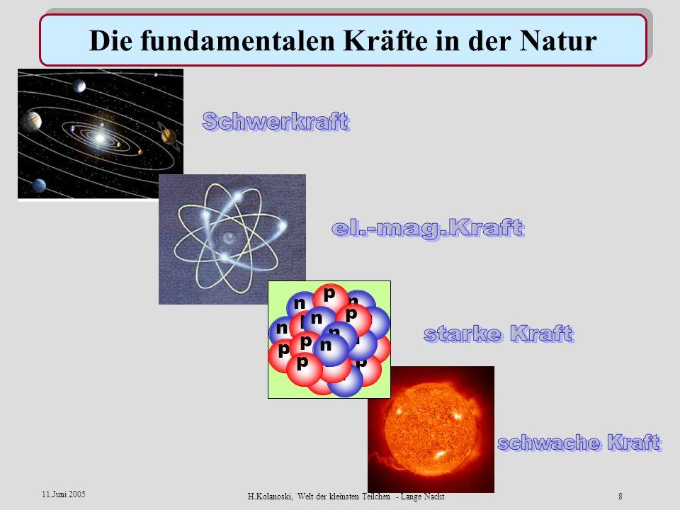 Die fundamentalen Kräfte in der Natur