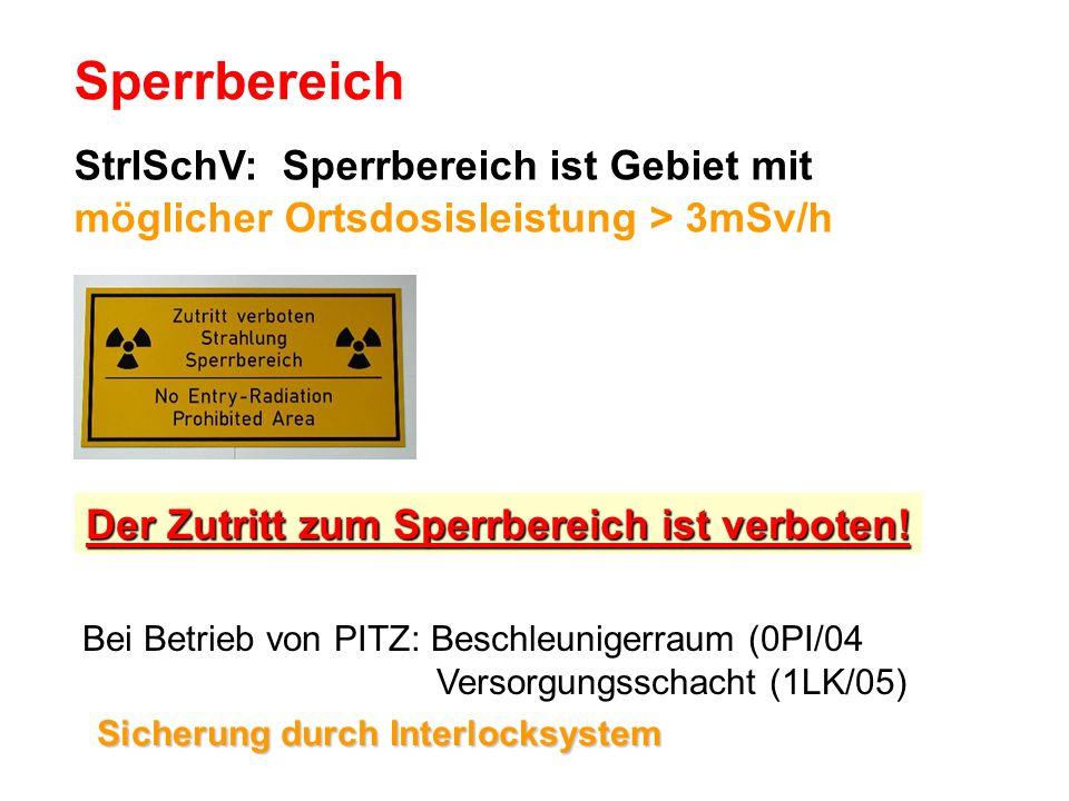 Sperrbereich StrlSchV: Sperrbereich ist Gebiet mit