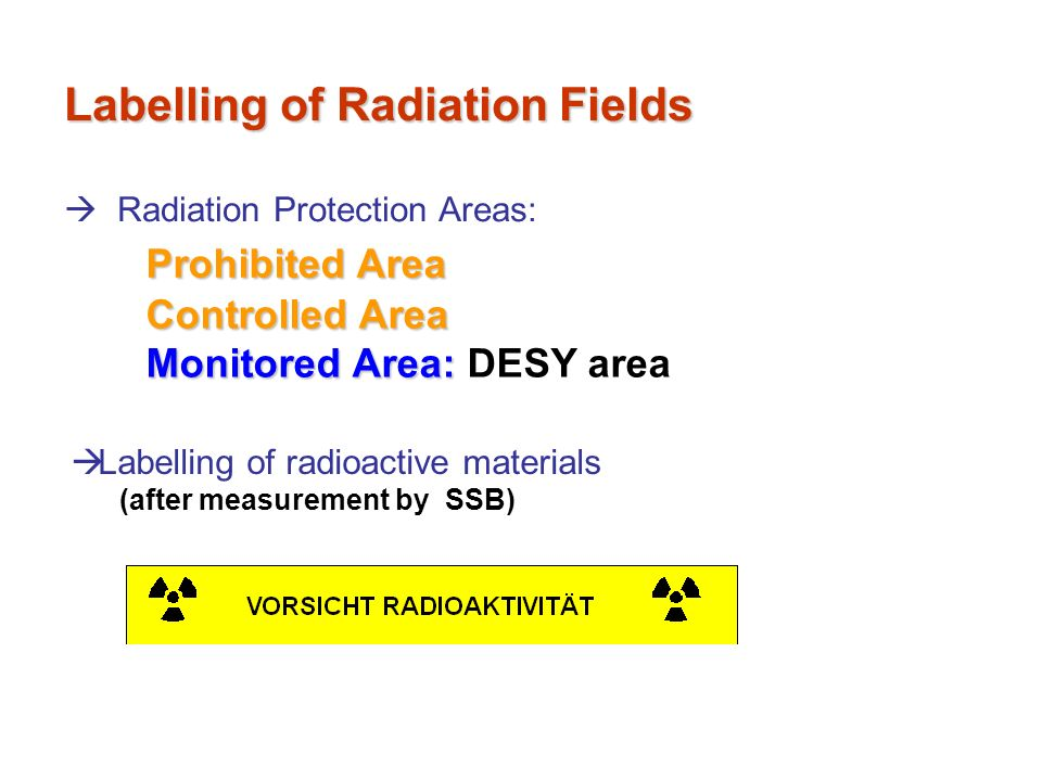 Labelling of Radiation Fields