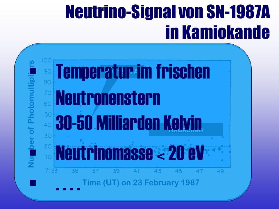 Temperatur im frischen Neutronenstern 30-50 Milliarden Kelvin
